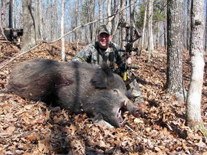 Bow Hunting Boar at High Adventure Ranch